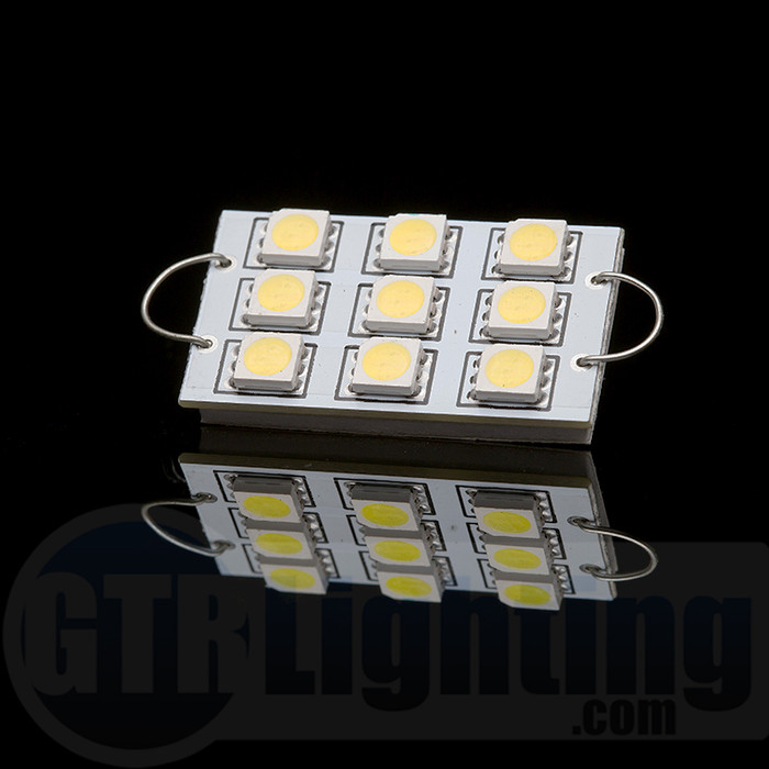 GTR Lighting 44mm Large Style Rigid Loop 9-LED Festoon Bulbs