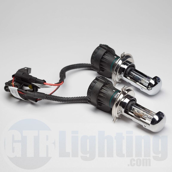 GTR Lighting 35w/55w Dual Beam HID Bulbs, H4 (Requires Relay Harness)
