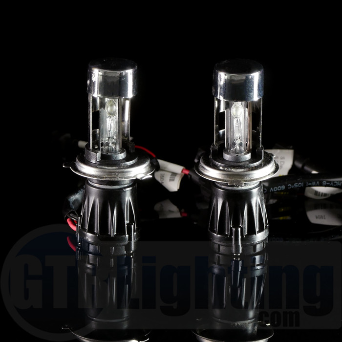 GTR Lighting 35w/55w Dual Beam Replacement HID Bulbs, H4 (Requires Relay Harness) - Pair