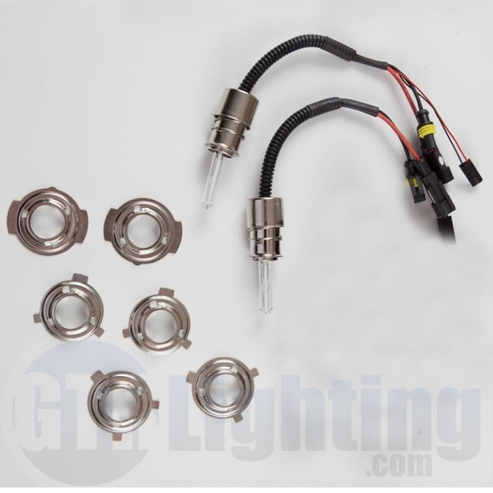 GTR Lighting 35w/55w Dual Beam HID Bulbs, H6M (Relay Harnesses Included)