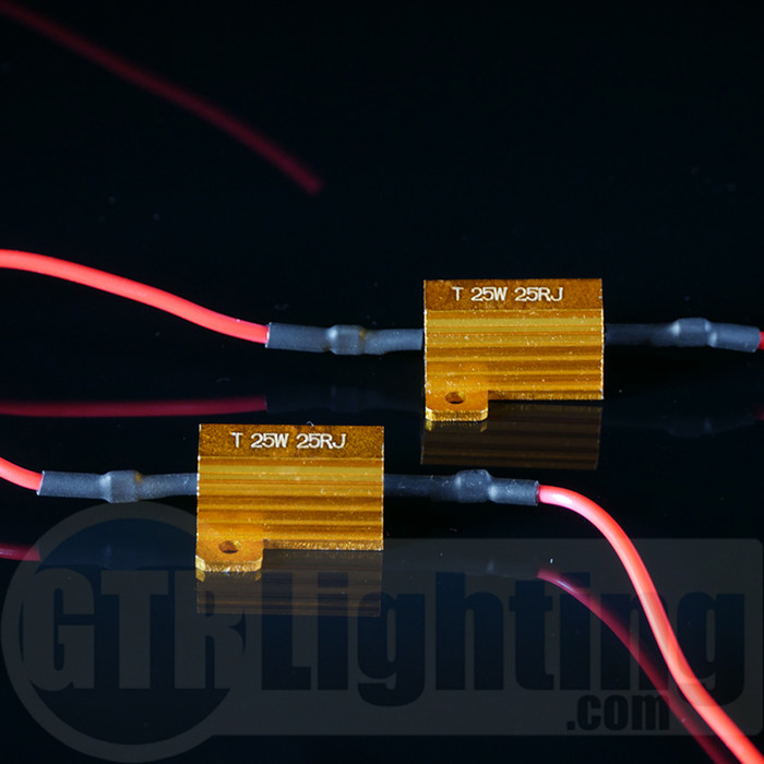 GTR Lighting 25 watt 25 ohm Gold Style Resistors, for Custom Installation