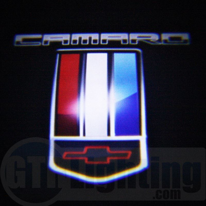 GTR Lighting LED Logo Projectors, Chevy Camaro Logo, #52