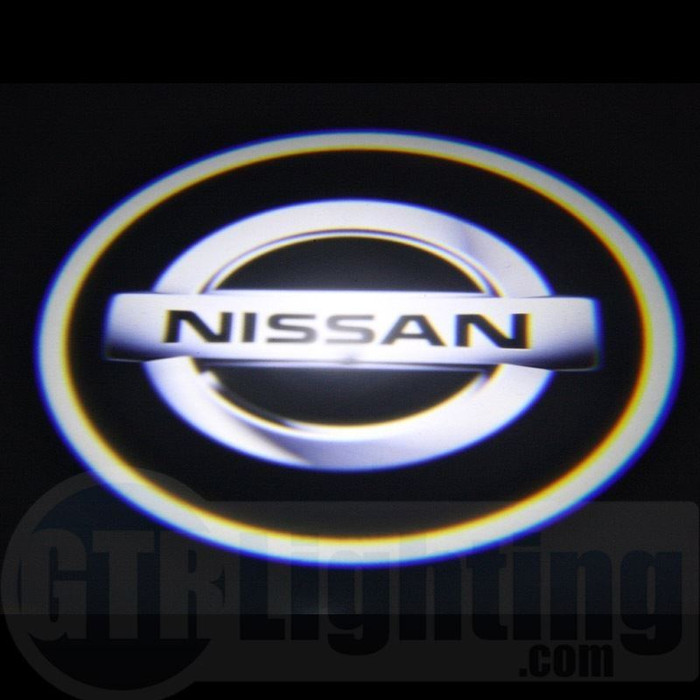 nissan logo. gtr lighting led logo projectors nissan 23