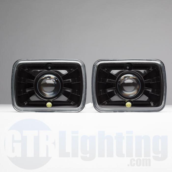 GTR Lighting Tru-Projector Dual Beam 7x6  H6054 Black Headlight Housing & GTR Lighting Tru-Projector Dual Beam 7u0026amp;quot; Round H6024 Black ... azcodes.com