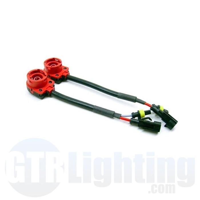 GTR Lighting D2 Style HID Bulb Adapter Harnesses