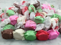 Five assorted flavors of our soft and sweet sugar free taffy in a one pound bag.