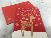 Warm Wishes Reindeer Gift Card