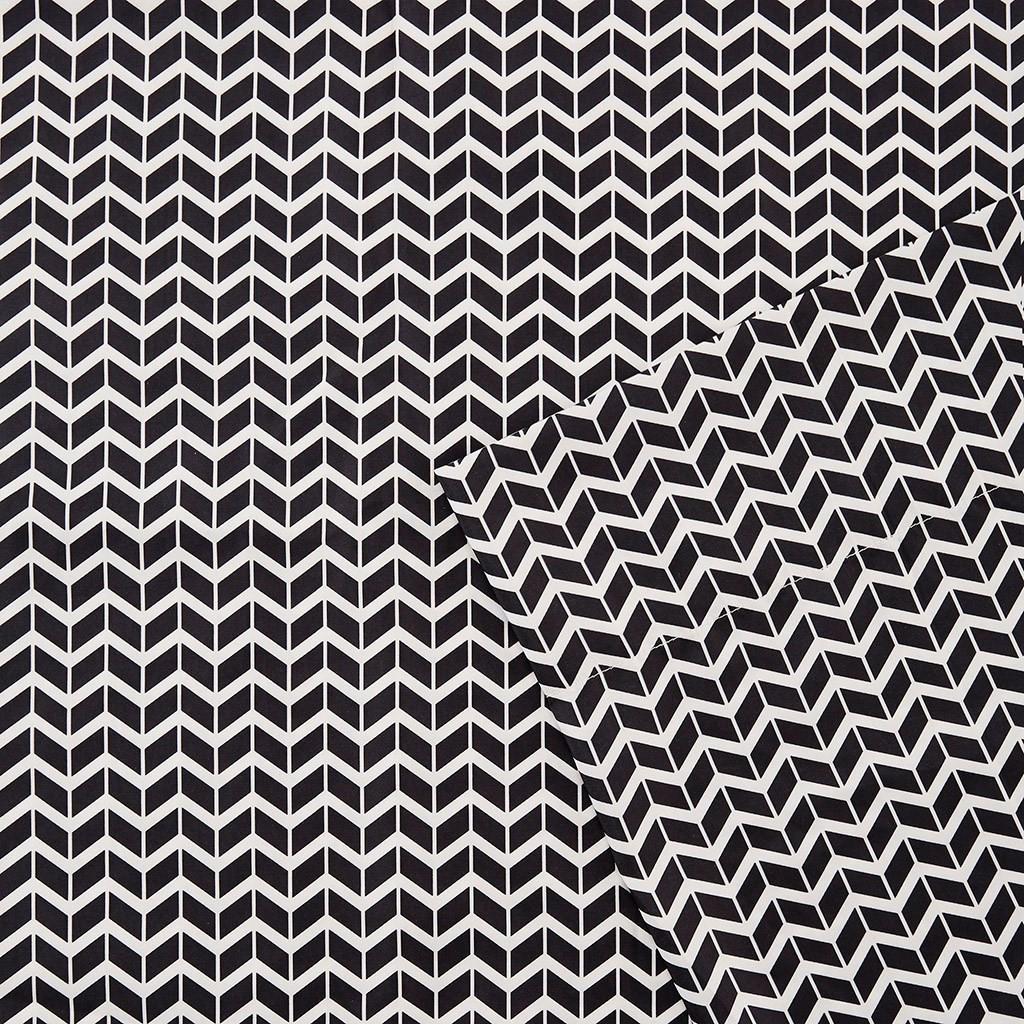 Black Amp White Chevron Zig Zag Microfiber Sheet Set