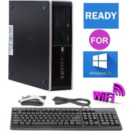 HP 6200 Elite Intel Core i3 3.3GHz Desktop Computer PC 8GB 1TB Ready Windows 10 Pro WiFi