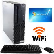 Lenovo Thinkcentre M71e Desktop Computer PC i3-2100  3.10GHz 4GB 250GB DVDRW Win 7 Pro 64-Bit WIFI