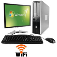 FAST HP Desktop PC Computer Core 2 Duo 500GB 4GB DVD/CDRW LCD Monitor Windows 7 Pro 64 Bit Wifi