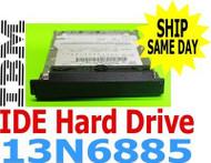IBM Lenovo ThinkPad 13N6885 Hard Drive with Tray& Plastic cover 40 GB MHT2040AH