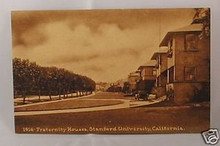 Stanford University Postcard - Fraternity Houses