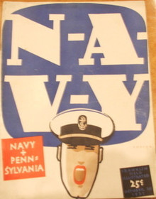 Navy v. Penn Football Program 1937