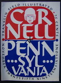 Cornell v. Penn Football Program 1961