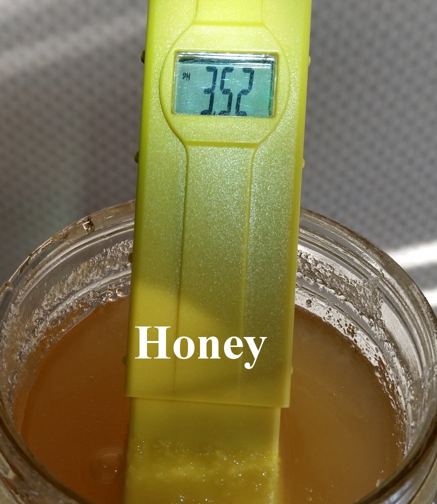 pH balance of honey