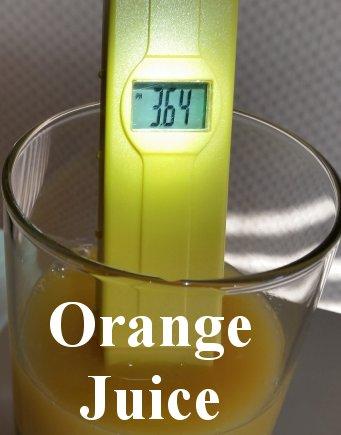 pH balance of orange juice