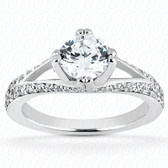 0.39 Diamond tcw on Ring Setting - Main Stone Not Included