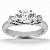 Round Center Prong Set Diamond Engagement Ring - ENS1135-A