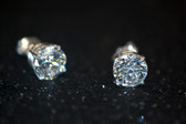 3.00 TCW, 14K White Gold Loucriz Earrings - LC178