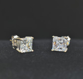 3.00 TCW, 14k White Gold Loucriz Earrings - LC192