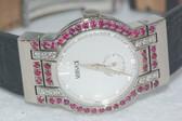 Womens Versace 18K Gold Diamond Watch