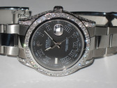 Mens Rolex Datejust II Oyster Perpetual Diamond Watch