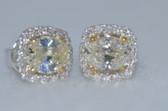 14k Natural Light Yellow Diamond Earrings - EK01