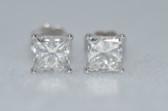 14k Princess Cut Diamond Stud Earrings - EK04
