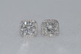 18k Round Cut Diamond Stud Earrings - EK06