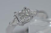 14k Radiant Cut Diamond Engagement Ring - EK16