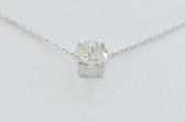 14k Round Cut Solitaire Diamond Pendant - EK20