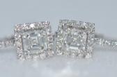 Asscher Cut Diamond Stud Earrings - EK32
