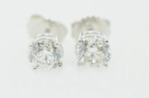 Round Cut Diamond Stud Earrings - EK44