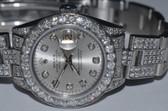 Womens Rolex Datejust Oyster Perpetual Diamond Watch