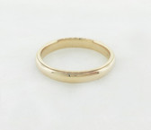14K Solid Yellow Gold Unisex Basic Carved Ring - LC319