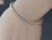 14K Yellow Gold Cubic Zirconia Tennis Bracelet - LC321