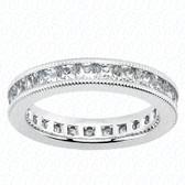 Princess Channel Set Diamond Eternity Band - MCET1035