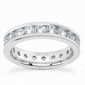 Round Brilliant Channel Set Diamond Eternity Band - MCET1014