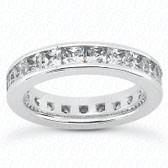 Princess Channel Set Diamond Eternity Band - MCET1031
