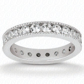 Round Brilliant Channel Set Diamond Eternity Band - EWB465-10