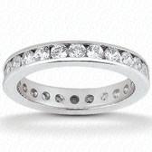 Round Brilliant Channel Set Diamond Eternity Band - EWB421-15