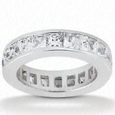 Princess Channel Set Diamond Eternity Band - EWB160-2.5x2.5