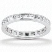 Baguette Channel Set Diamond Eternity Band - EWB438