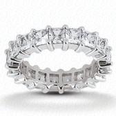 Princess Prong Set Diamond Eternity Band - EWB229