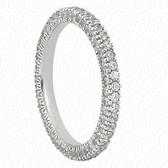 Round Brilliant Bead Set Diamond Eternity Band - EWB481-1
