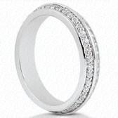 Round Brilliant Bead Set Diamond Eternity Band - EWB4481