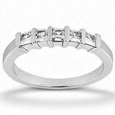 Princess Bar Set Diamond Wedding Band - WB2735