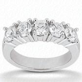 Round Brilliant 5 Stone Prong Set Diamond Wedding Band - WB2748