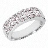 Princess Channel Set Diamond Anniversary Band - WBS155-G